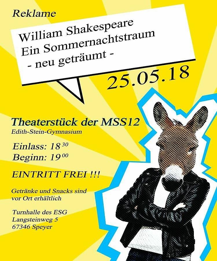 ESG - Edith Stein Gymnasium Speyer: Theaterabend der 12. Klasse